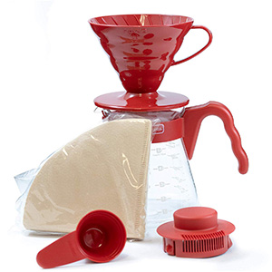 Dripper V60 Hario De Color Rojo