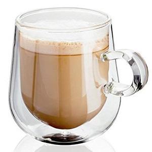 Judge Juego de 2 Cristal Tazas Doble Pared Café Latte 9.5oz