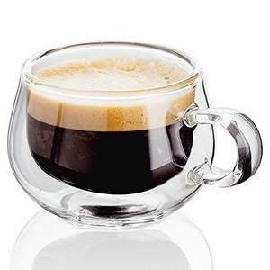 Judge Taza De Cristal Doble Para Café Espresso 2oz
