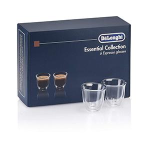 Kit De Demitasse Delonghi De Cristal Doble Para Café Espresso