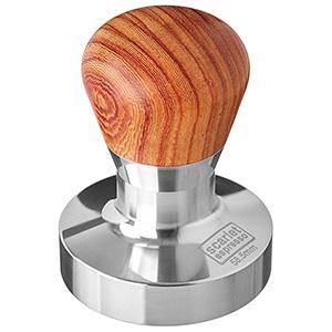 Tamper 58.5mm Base Plana De Café Para Barista Scarlet Espresso Passion