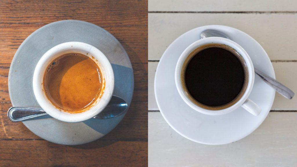 Taza De Espresso Y Taza De Café Americano