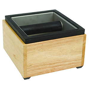 Barista Rattleware Maple Knock Box Para Borra De Café