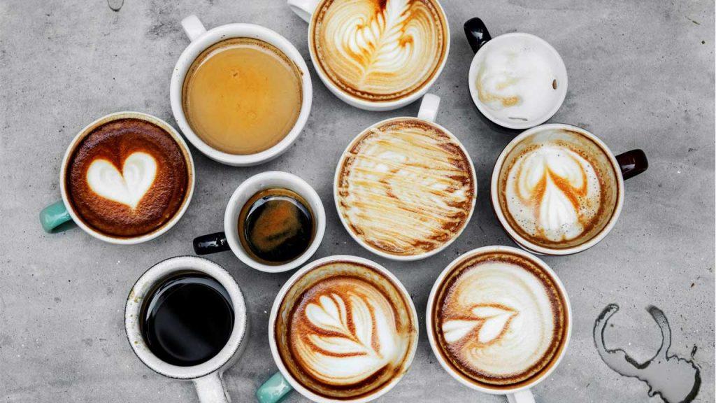 Tazas Con Los Diferentes Tipos De Café Que Existen