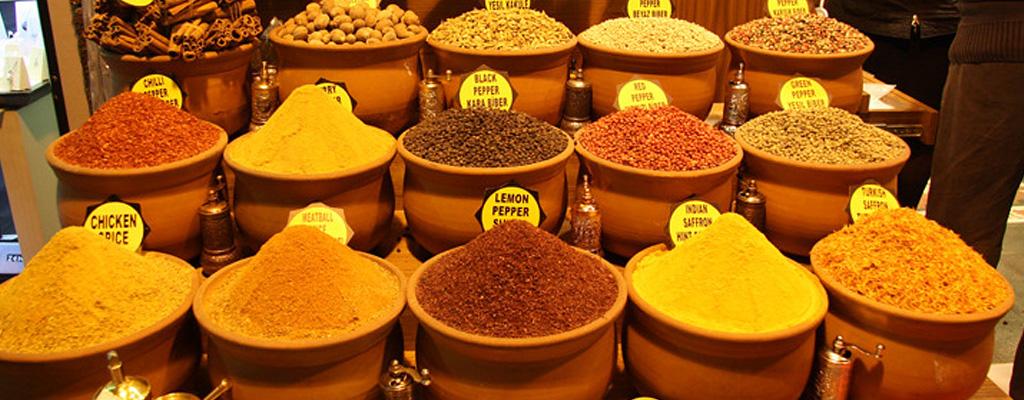 Mercado De Especias Para Preparación De Café Turco Tradicional