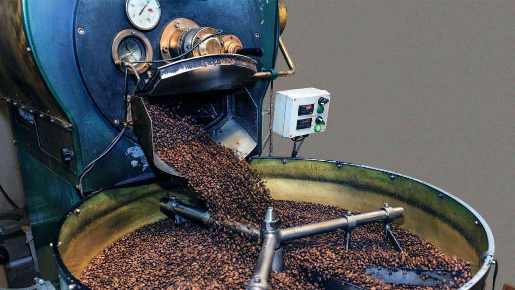 Modelo De Tostador De Tambor Para Granos De Café Verdes