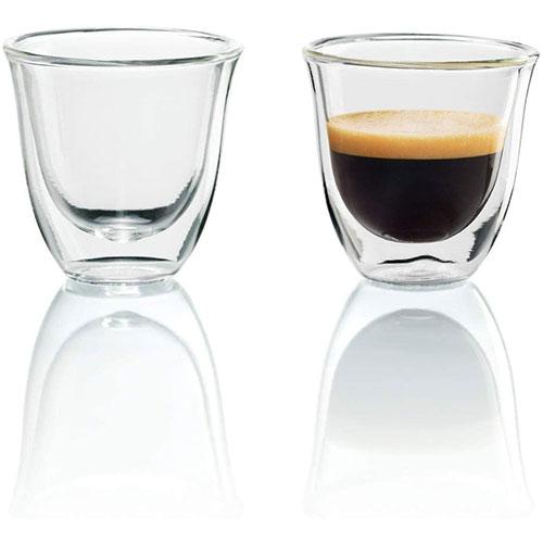 De'Longhi Juego De 2 Vasos Para Espresso Pared Doble Vidrio Templado