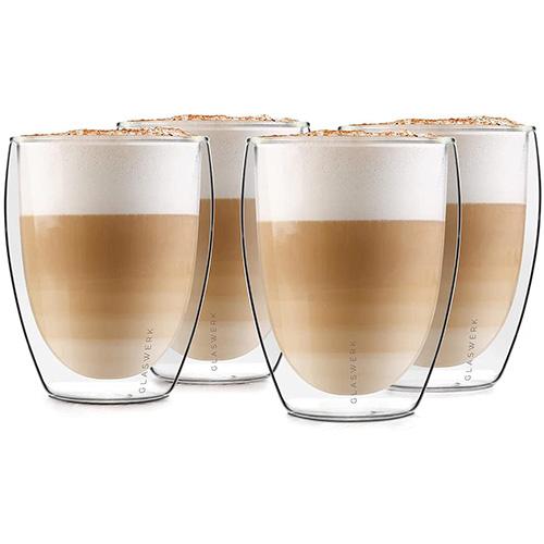 GLASWERK Vasos Para Café Latte Y Macchiato De Doble Pared Vidrio Borosilicato