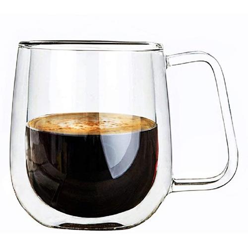 Vicloon Taza De 250 ml De Café Capuchino Y Latte De Doble Pared De Vidrio De Borosilicato