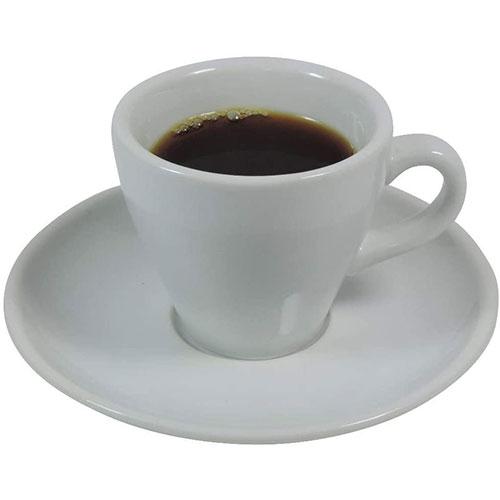 Viva Haushaltswaren 6 Unidades De Tazas Y Platillos De Porcelana Para Café Espresso