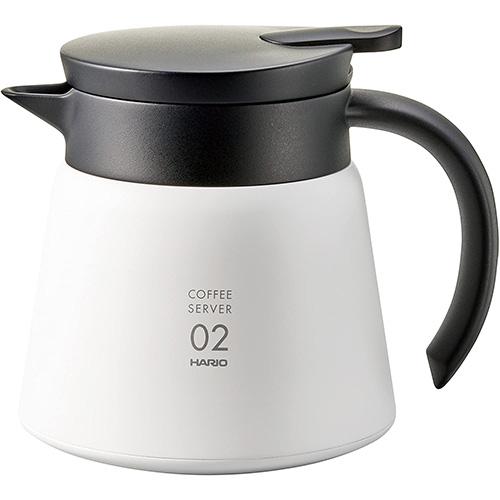 Hario Jarra Térmica Cafetera V60 Tamaño 02 Color Blanco Capacidad 600 ml